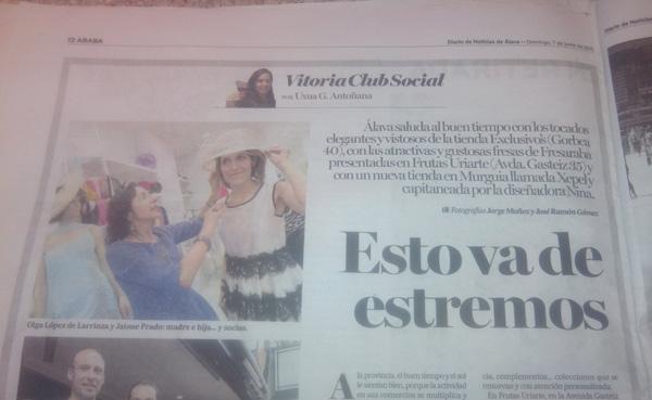 Presentación de Exclusivos Moda Vitoria en el Diario de Noticias