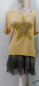 lencero: conjunto amarillo y verde