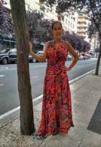 Vestido estampado italiano 2017 verano vitoria