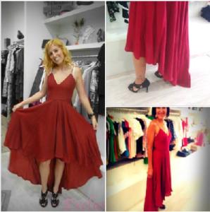Vestido a dos altras: moda de Vitoria en Verano
