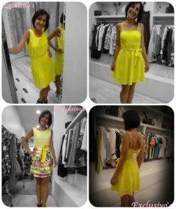 vestidos amarillos rebajas