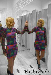 vestido diferente moda estampado italia