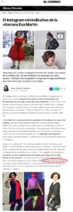 Eva Martín Bloguera entrevista el Correo Alava