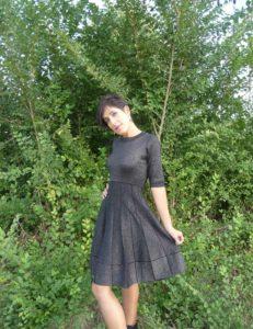vestido de punto jaspeado para Vitoria