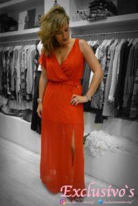 Vestido largo rojo Vitoria