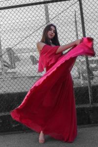 vestido rojo vitoria moda