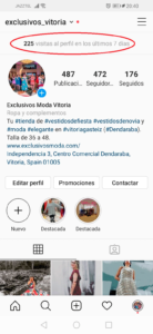 perfil de instagram de Exclusivos Moda. numeros en confinamiento de Coronavirus