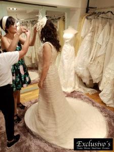 Prueba de vestido novia