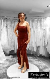 vestido pegado rojo vitoria